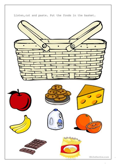Or Printables Picnic Basket Worksheet Free Esl Printable Worksheets Made By Teachers
