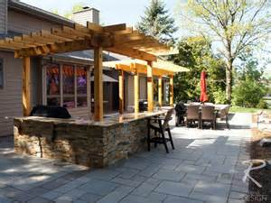 outdoor kitchen backyard patio traditional patio other metro by revi design
