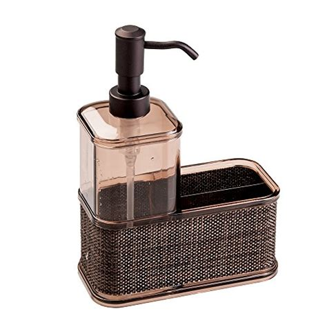 soap caddy for kitchen sink mdesign 1743mdk mdesign soap dispenser sponge and