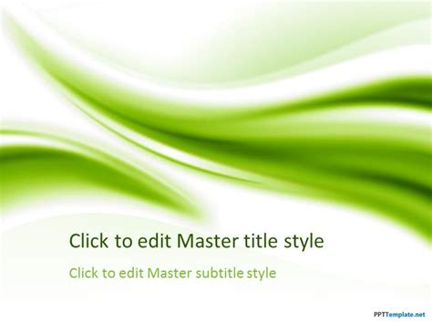 Free Green PPT Template