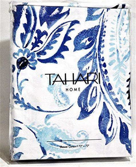 blue and white paisley curtains tahari luxury cotton blend shower curtain royal blue and