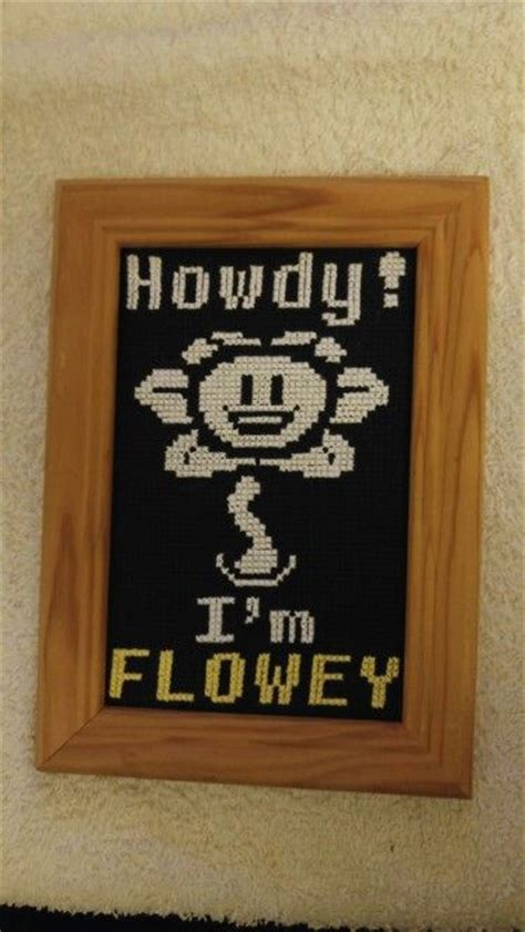 Flowey Square undertale flowey cross stitch geisha