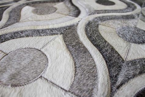 Cowhide Patchwork Rug Gray - gray river design patchwork cowhide rug shine rugs