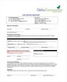 Credit Union Template 9 Sle Loan Agreement Form Sle Exle Format