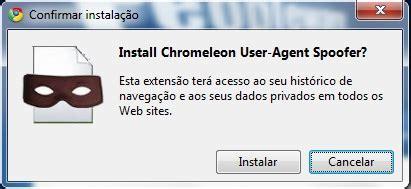 chrome ua spoofer transforme o user agent do seu browser de forma simples