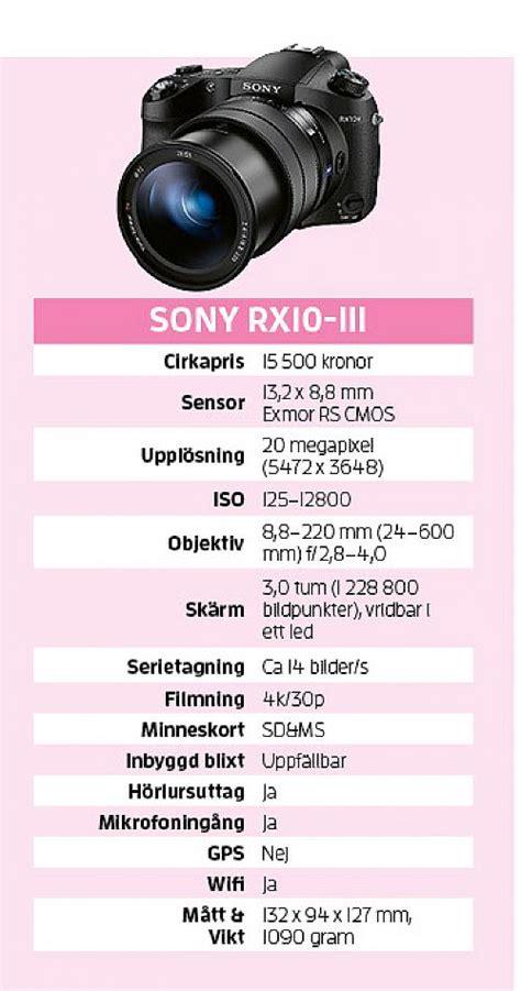 Kamera Sony Rx10 Iii sony rx10 iii den extremaste l 229 ngzoomaren kamera bild