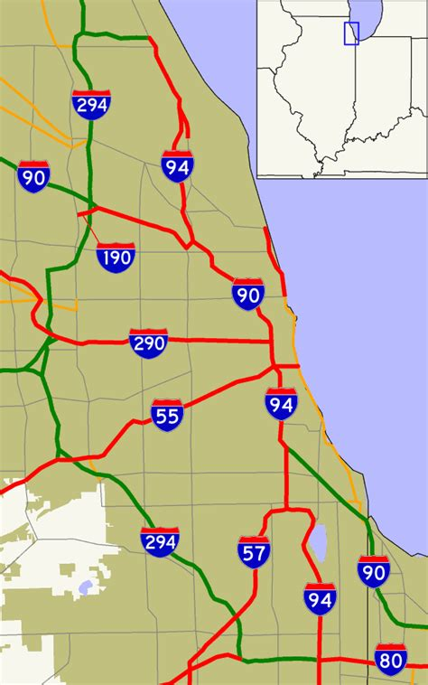 chicago expressways map file chicago interstates png wikimedia commons