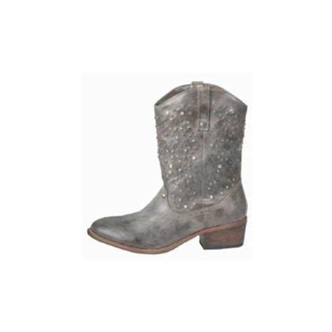 shoes low boots studs leather western cowboy wheretoget