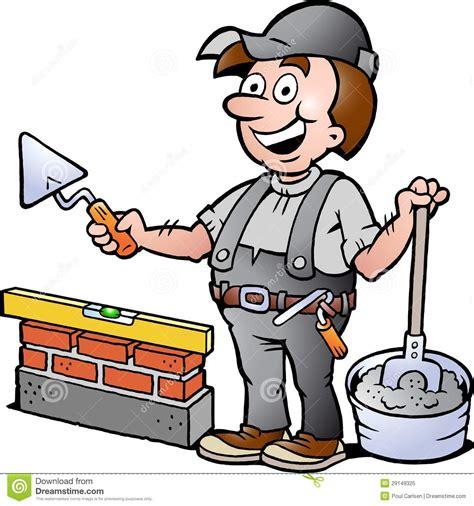 clipart muratore illustrazione di un tuttofare felice muratore
