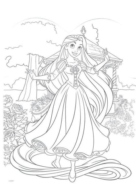 rapunzel coloring pages games 225 best coloriage raiponce images on pinterest tangled