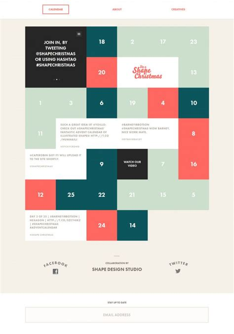 design inspiration calendar its a shape christmas interactive advent calendar