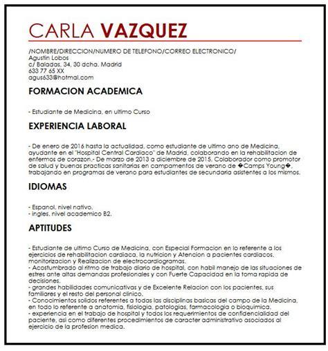 Modelo De Curriculum Con Habilidades Y Destrezas Modelo De Cv Para Trabaja A Tiempo Parcial Muestra Curriculum Vitae