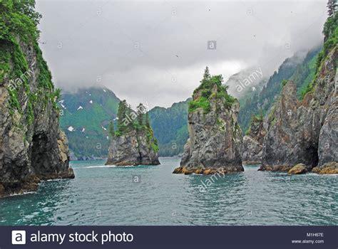 fjord bay porcupine bay in kenai fjords national park stock photo