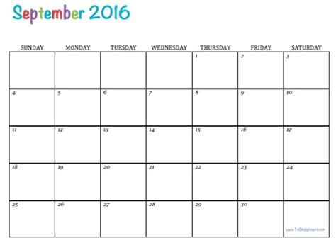 blank calendar september 2016 september 2016 weekly calendar printable blank templates