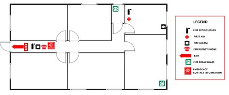 Shotgun House Plan by Fire And Emergency Plans Solution Conceptdraw Com