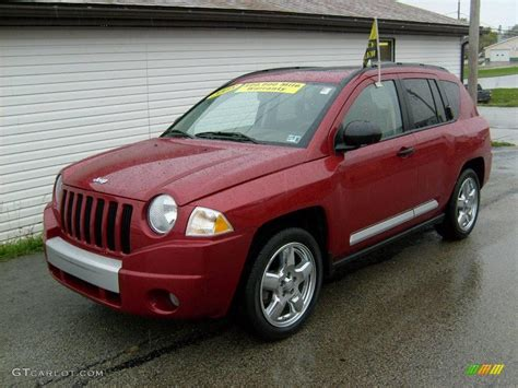 red jeep compass 2008 inferno red crystal pearl jeep compass limited 4x4
