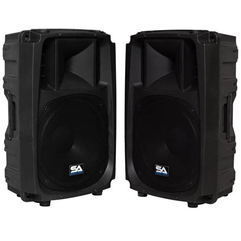 Speaker Active Ks 21a Sub seismic audio pair of active 15 quot 2 way speakers pa dj molded loudspeaker 600w
