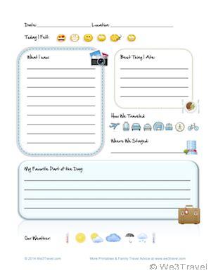printable road trip journal free kid travel journal printable travel journal for