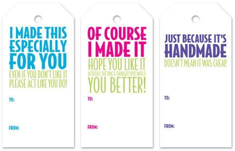 Handmade For You Labels - handmade tags in color
