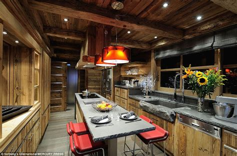 Swish Kitchens by Ski Chalet In Courchevel With Works From Picasso Yours For 163 50m Daily Mail