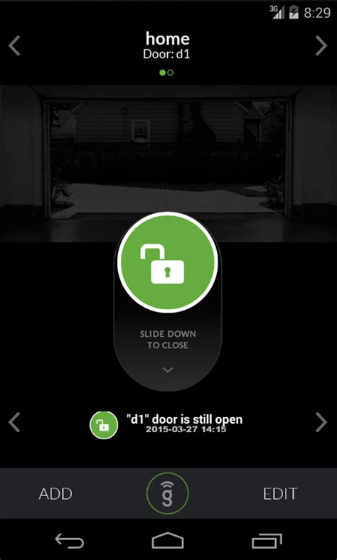 Garage Door Opener App For Android Gogogate 2 Open Garage Door Android Apps On Play