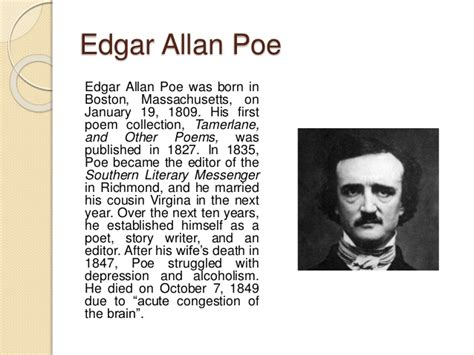 edgar allan poe biography article intrinsic elements analysis setting in quot a tell tale heart