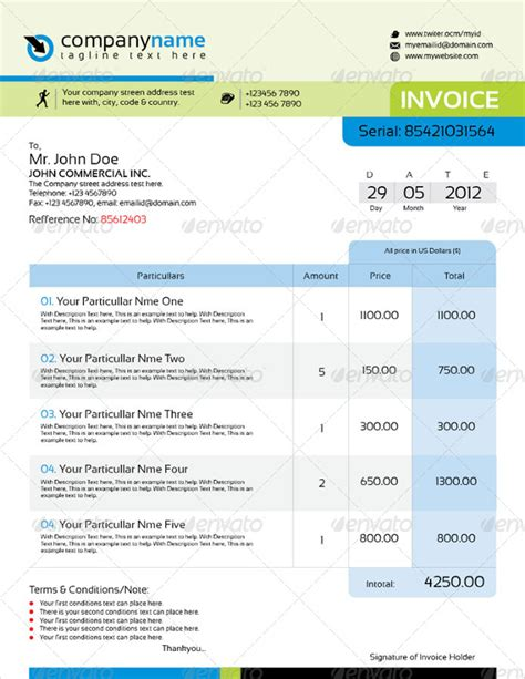 Professional Indesign Templates indesign invoice template 7 free indesign format