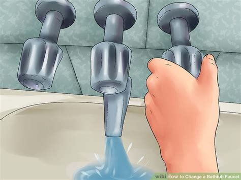 change bathtub faucet 2 easy ways to change a bathtub faucet with pictures