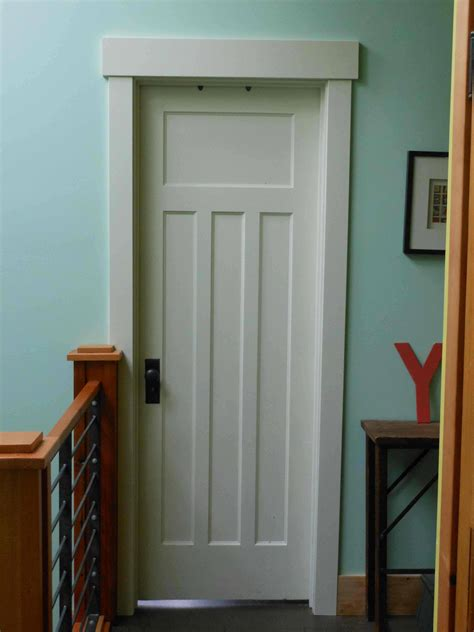 Door Trim by Remodelaholic 40 Ways To Update Flat Doors And Bifold Doors