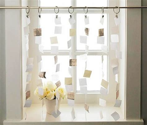 kitchen curtain ideas diy paper curtains cut up your favorite book or inspirational
