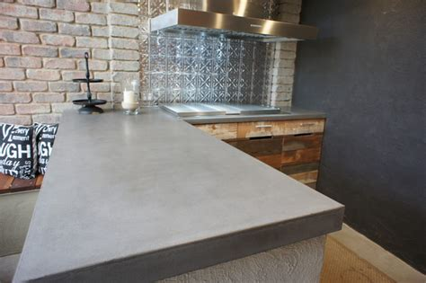 bench top materials outdoor kitchen with polished concrete bench tops and
