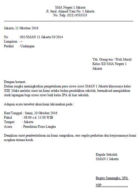 contoh surat dinas sekolah resmi yang benar formatsurat