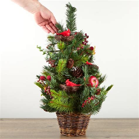 woodland pine christmas tree hayneedle woodland artificial pine tree topiary trees and toppers and winter
