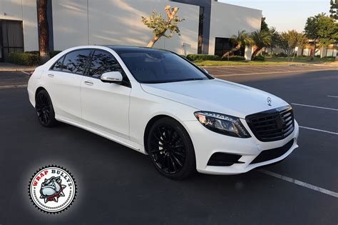 mercedes white mercedes s550 wrapped in satin white wrap bullys