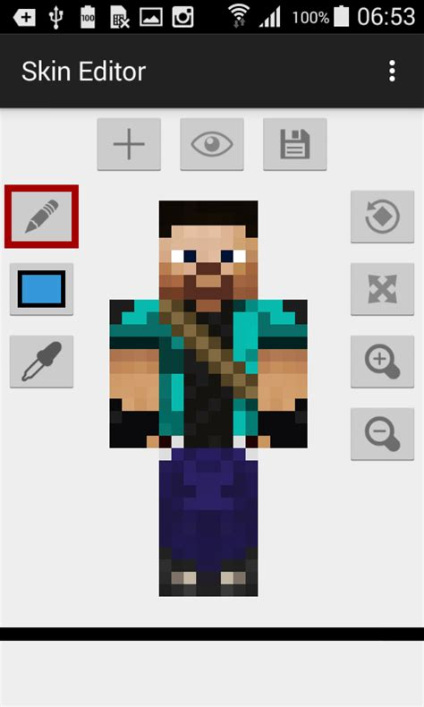 minecraft skin editor apk skin editor for minecraft 187 apk thing android apps free