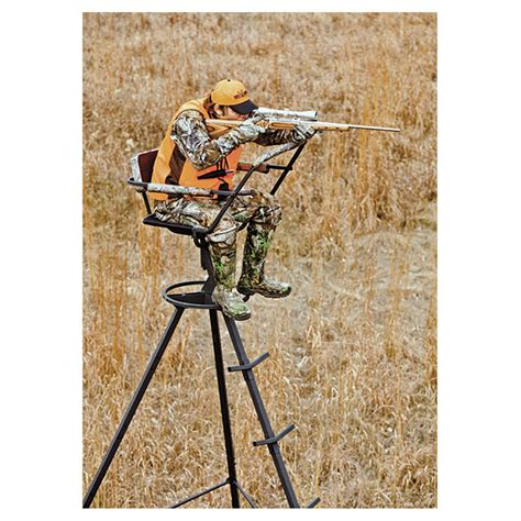 Large Tripod Z08 S big 12 pursuit tripod deer stand 592544 tower tripod stands at sportsman s guide