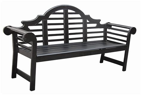black lutyens garden bench outdoor park bench