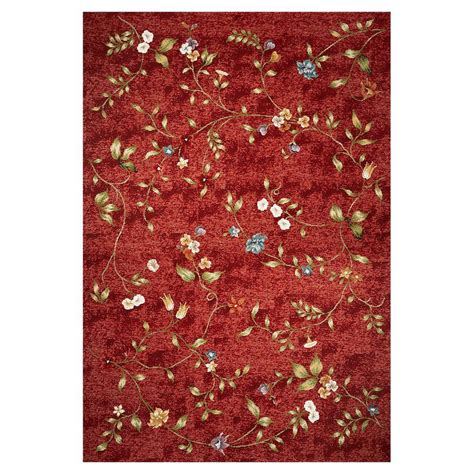 Shop Kas Rugs Serenity Red Rectangular Indoor Outdoor 7 X 10 Area Rugs