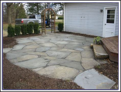 installing a flagstone patio patios home decorating