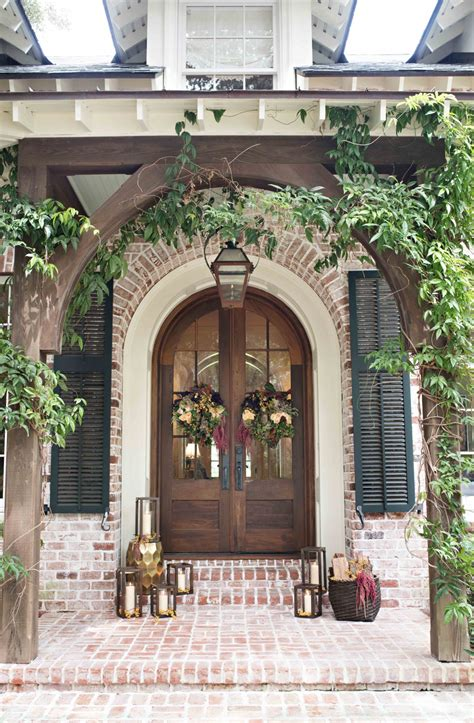 pottery barn inspired fall front porch front door inspiration lavin label
