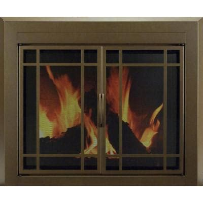 Fireplace Enclosures Home Depot by Pleasant Hearth Enfield Small Glass Fireplace Doors En