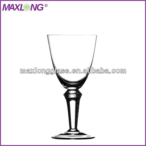 thick stem wine glasses hot sale mouth blown thick stem red wine glass from china
