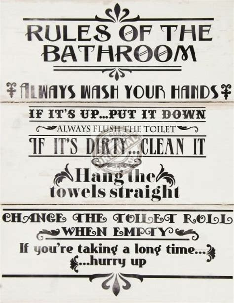 bathroom rules plaque bathroom rules wall plaque aimee s blog