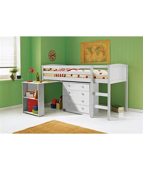 bed frame with desk buy kelsey mid sleeper bed frame with desk white at