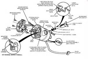 1990 bronco ignition switch in the steering column