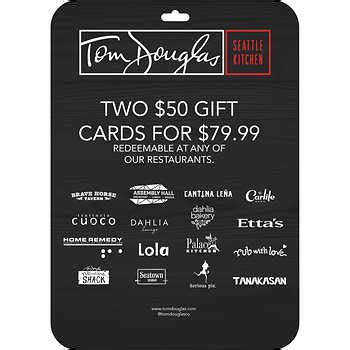 Toms Gift Card - tom douglas restaurants gift cards 2 50