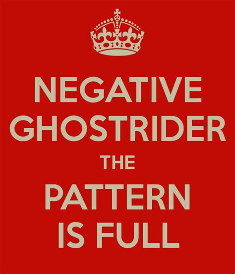 Pattern Is Full | negative ghostrider the pattern is full poster paul