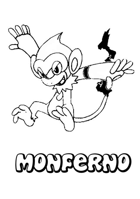 monferno coloring pages hellokids