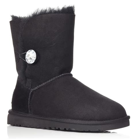boot bling ugg bailey bling boots in black lyst
