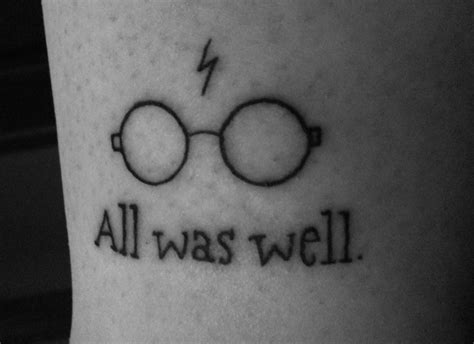 harry potter glasses tattoo harry potter tattoos